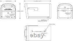 Verrouillage Secure Mailbox 11.2 En X 11.4 Dans Steel Heavy Duty Keyed Post Mount Box