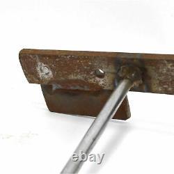Vintage Heavy-duty Steel Coat Racks Lot De 2, Chacun Avec Mur 9-rods/hooks Monté
