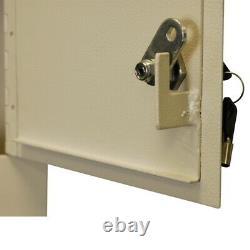 Wall Mount Drop Box Coffre-fort Heavy Duty Steel Secure Cash Keys Mail Slot Lock Boxes