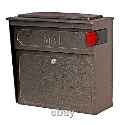 Wall-mount Mailbox Haute Sécurité Verrouillage Lourd Acier Bronze Martelé Finition