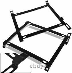 X2 Racing Heavy Duty Tensile Steel Seat Brackets Mounts For 96-00 Honda CIVIC Ek
