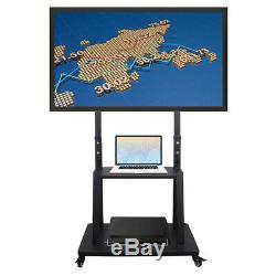 XL Grand Étage Tv Stand Mont Ultra Tv Heavy Duty Acier Chariot Mobile Pour 37 -100