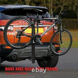 X-bull 4-bike Carrier Rack Hitch Mount Sac À Vélo De Service Lourd 2 Récepteur Suv